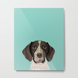 German Shorthair Pointer portrait minty dog portrait cute art gifts for dog breed lovers Metal Print