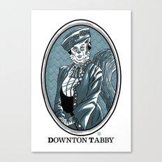 Downton Tabby Canvas Print