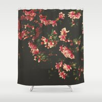 iggy azalea Shower Curtains featuring azalea by Ingrid Beddoes