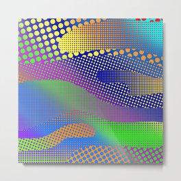 Halftone Sea Color Metal Print