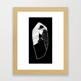Nonna e Cappuccetto dentro il lupo  Framed Art Print