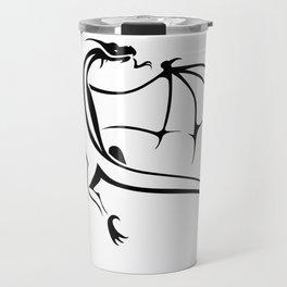 A simple flying dragon Travel Mug