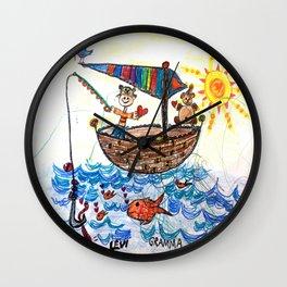 :: Row, Row, Row Your Boat :: Wall Clock