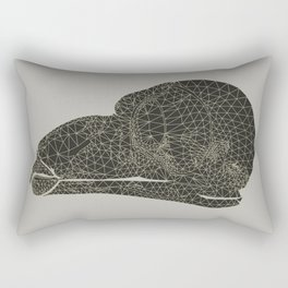 Owl Skull Grid Rectangular Pillow
