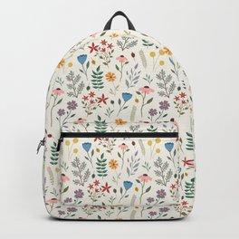 Light Floral Backpack