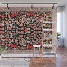 Täcke Antique Swedish Skåne Wedding Blanket Print Wall Mural
