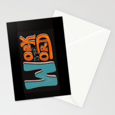 Work is the Word - Black Stationery Cards