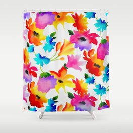 Dancing Floral Shower Curtain