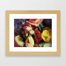 impressionistic style flowers . . . by iPhone Framed Art Print