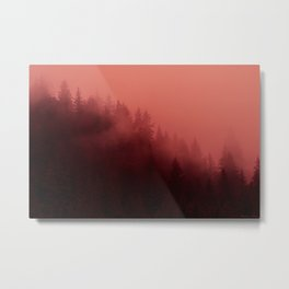 0366 Chocolate Forest with Living_Coral Fog, AK Metal Print