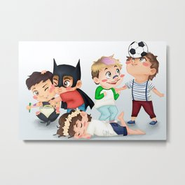 Chibi kids OT5 Metal Print