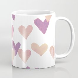Valentine's Day Watercolor Hearts - pastel pink Coffee Mug