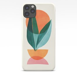 Nature Stack II / Abstract Shapes Illustration iPhone Case