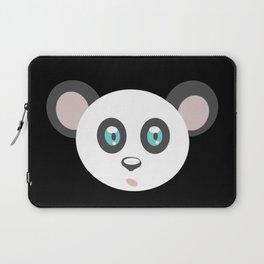 cute panda bear head, teddy, panda Laptop Sleeve
