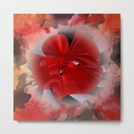red polynomial flower -2- Metal Print