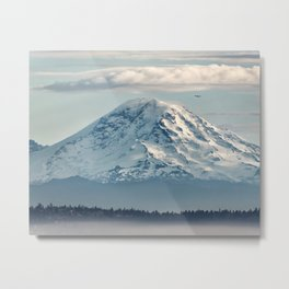 Seattle Mount Rainier Metal Print