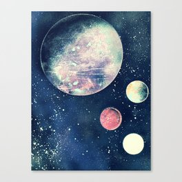 Four Planets - Retro Canvas Print