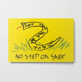 No Step on Snek Gadsden Flag Metal Print