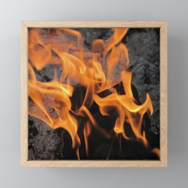 Sitting By the Crackling Fire Framed Mini Art Print