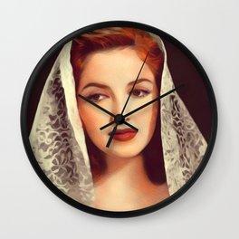 Martha Vickers, Vintage Actress Wall Clock