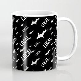 Local Upper Peninsula White and Black Pattern Coffee Mug