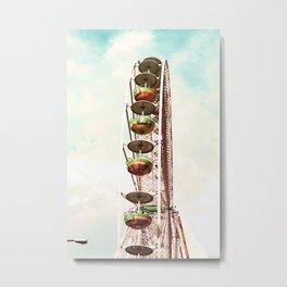 Big Wheel and a litte Lamp Metal Print