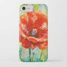 Blooming poppy iPhone 7 Slim Case