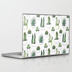 watercolour cacti and succulent Laptop & iPad Skin