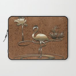 Flamingo in Gold Laptop Sleeve