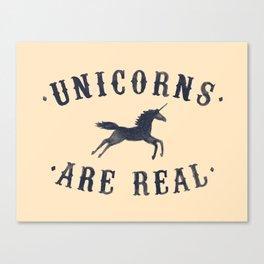 Unicorns Are Real II Canvas Print