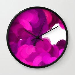 Pink Fog Wall Clock