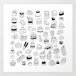 Pastries Art Print