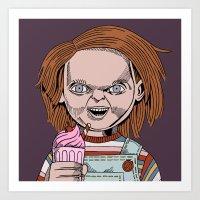 Chucky is a good boy (toy) Art Print