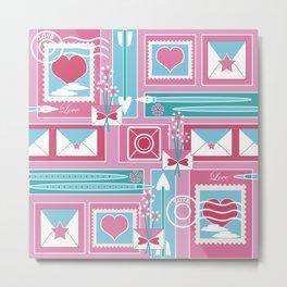 I Heart Mail Metal Print