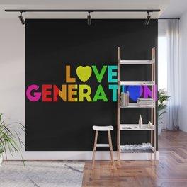 Love generation - Rainbow flag Wall Mural