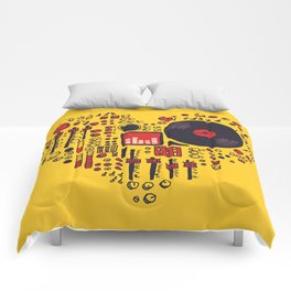 Music in every heartbeat Comforters
