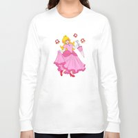 princess peach Long Sleeve T-shirts featuring PRINCESS PEACH by Laurdione