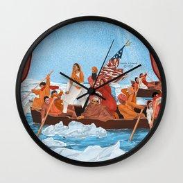 Immigrants Crossing Delaware River Wall Clock