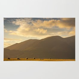 Sheep grazing in the Lake District, England Rug