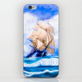 Frigate USS Constitution At Sea iPhone Skin