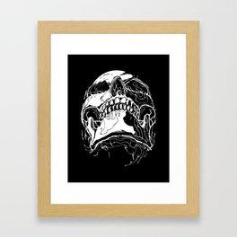 Carnibal / Ink Skull / White / S Framed Art Print