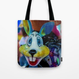 The colourful rabbit Tote Bag