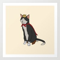 sith Art Prints featuring Cait Sith by Paul Scott (Dracula is Still a Threat)