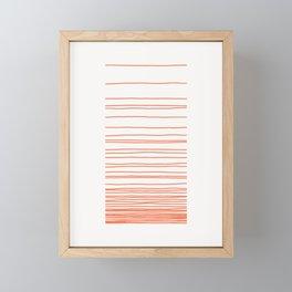 Linear Gradation - Tomato Framed Mini Art Print