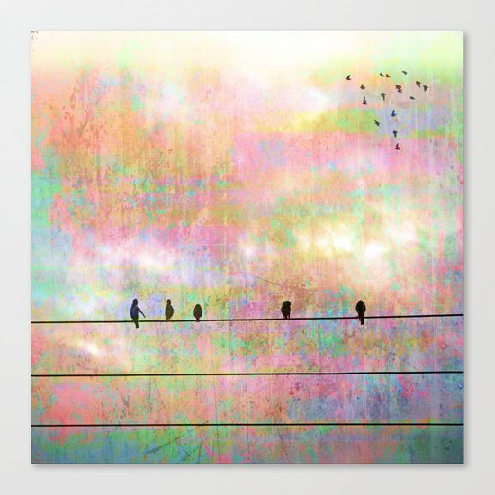 The Quickening, Abstract Sky and Birds Canvas Print