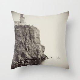 Split Rock Lighthouse in Duluth *Original photography Throw Pillow