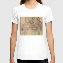 Mitchell's Sectional Map of Kansas (1859) T-shirt