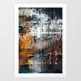 Abstract Winter Landscape Art Print