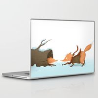 foxes Laptop & iPad Skins featuring Foxes by Ramona Treffers