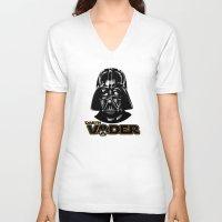 darth vader V-neck T-shirts featuring Darth Vader by store2u